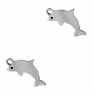 Stainless steel charms dolphin Silver