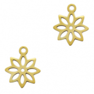 Stainless steel charms flower Gold