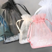 NEW New organza jewellery bags in trendy colours