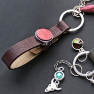 NEW Cuoio keychains & new collection Swarovski chatons