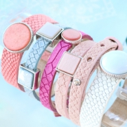 NEW New: Cuoio bracelets with trendy reptile print!