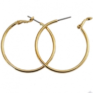 DQ creole earrings 40mm Gold plated