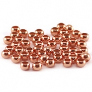 DQ crimp beads 3mm Rose gold plated