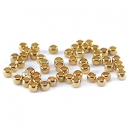DQ crimp beads 2mm Gold plated