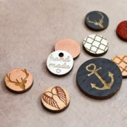 NEW New design, wooden cabochons and charms!