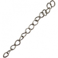 DQ extension chain DQ antique silver plated