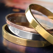 NEW Stainless steel bangles with cute designs and more!