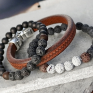NEW New lava beads: perfect for men's jewellery