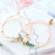 Inspirational Sets Summery bracelets with coloured elastic cord