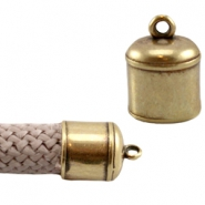 DQ metal end cap with loop (Dreamz cord) Antique bronze (nickel free)