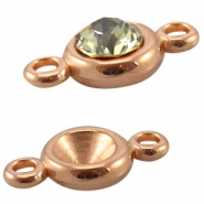 DQ metal setting two loops for SS39 chaton Rose gold (nickel free)