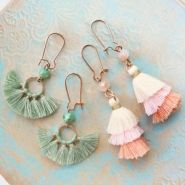 Inspirational Sets B-E-A-U-T-I-F-U-L earrings with tassels