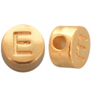 DQ metal letterbead E Gold (nickel free)