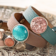 NEW Autumn! Cuoio bracelets & Polaris Elements cabochons
