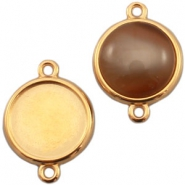 DQ metal setting 2 loops for 20mm cabochon Gold (nickel free)