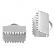 DQ lace clip 10mm Silver plated