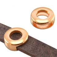 Round DQ metal slider (for 10mm flat DQ leather) Rose gold (nickel free)