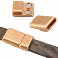 DQ metal magnetic clasp (for 10mm flat DQ leather) Rose gold (nickel free)