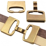 Large DQ metal clasp (for 10mm/20mm flat DQ leather) Antique bronze (nickel free)