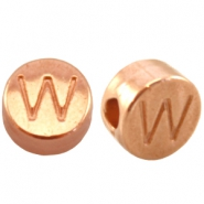 DQ metal letterbead W Rose gold (nickel free)