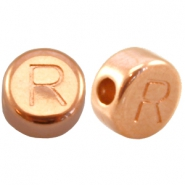 DQ metal letterbead R Rose gold (nickel free)