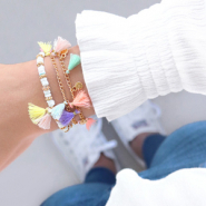 Inspirational Sets Anklets, bracelets and sunglasses cord with tassels