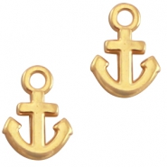DQ metal charm anchor Gold (nickel free)