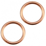 Closed DQ metal ring 13.5mm Rose gold (nickel free)