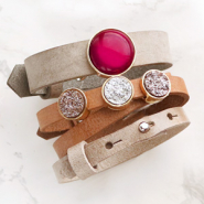 NEW New Cuoio bracelets and Polaris Elements cabochons