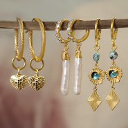 NEW New! Brass TQ metal charms + earring findings