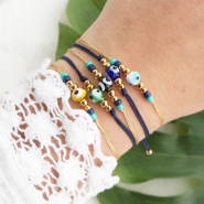 Inspirational Sets Fun to make: Bracelets with evil eye beads