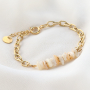 Inspirational Sets Make trendy bracelets with stainless steel belcher chain and natural stone beads