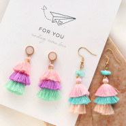 NEW New: colourful 3-layer tassels!