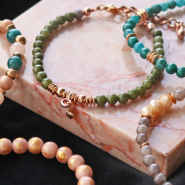 NEW New! Natural stone beads jade