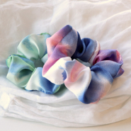 NEW NEW IN! Colourful watercolour scrunchies