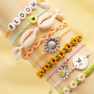NEW Shop now: macramé bead cord in summery colours