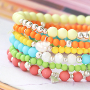 NEW Acrylic beads in summery trend colours