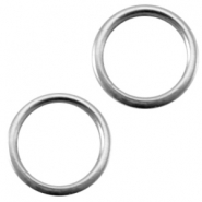 DQ metal closed ring 8x1.2mm Ø6mm Antique silver (nickel free)