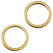 DQ metal closed ring 8x1.2mm Ø6mm Gold (nickel free)