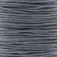 Waxed cord 1.0mm Dark grey