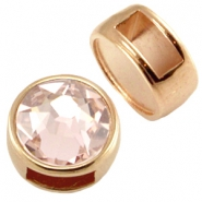 DQ metal slider for SS34 flatback and 7mm cabochon Rose gold