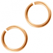 DQ metal jumpring 8mm Rose gold (nickel free)