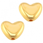 DQ metal bead heart Ø0.9mm Gold (nickel free)