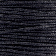 Waxed cord 1.0 mm Black