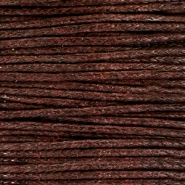 Waxed cord 1.0mm Chocolate brown