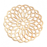 Round bohemian connector 15mm Gold