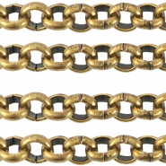 DQ European metal belcher chain 3.5mm Antique Bronze (nickel free)