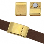 DQ metal magnetic clasp Ø10x2.2mm Gold (nickel free)
