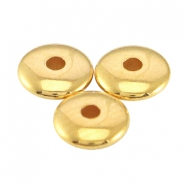 DQ metal beads disc 5x1.5mm Gold (nickel free)
