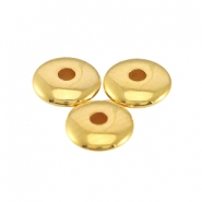 DQ metal beads disc 4x1.5mm Gold (nickel free)